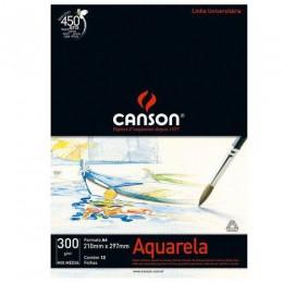 Bloco Canson Aquarela 300g A4 12fls