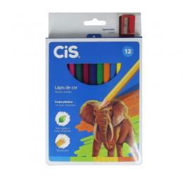 Lápis De Cor Jumbo Plastic CIS 12 Cores