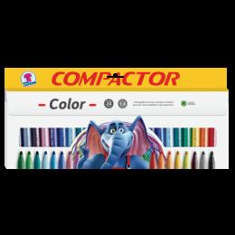 Caneta Hidrográfica 24 Cores - Compactor Color