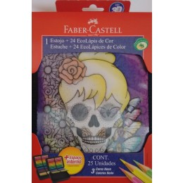 Estojo Faber Castell 3d c/24 lápis - ref: 18.22123DF