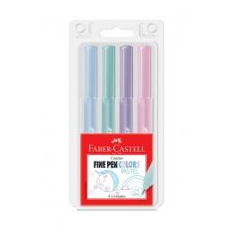 Caneta Fine Pen Pastel C/4 Faber-Castell