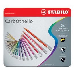 Lapis de Cor Stabilo 24 Cores CarbOthello