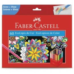 Lápis de Cor Faber Castell 60 Cores Sextavado