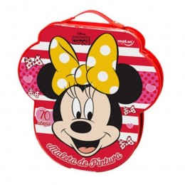 Maleta de Pintura Minnie Mouse Molin 70 Itens