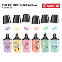 Marca Texto Stabilo Boss Mini Pastel Love C/6