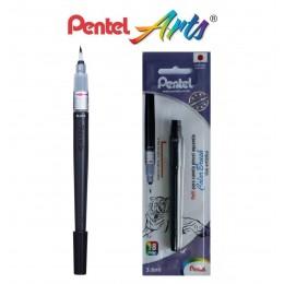 Caneta Pincel Color Brush Preta Pentel