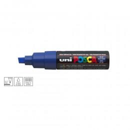 Caneta Posca Uni Ball Pc-8k Ponta Biselada Grossa De Acrílico 8 Mm - Azul