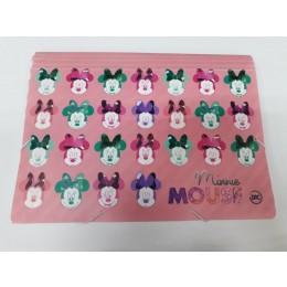 Pasta Sanfonada A4 c/ 12 Divisões Minnie Mouse