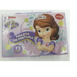 Maleta de Pintura Princesinha Sofia 72 itens - Molin