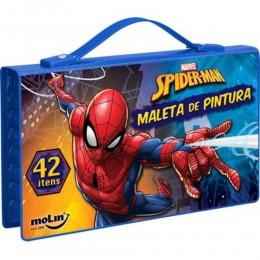Maleta de Pintura Spider-Man 42 Itens - Molin
