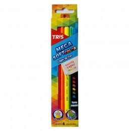 Lapis de Cor 06 cores Tris Neon