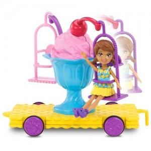 Polly Pocket Carrinho Sundae Dvj68 Mattel
